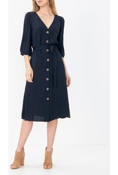 Only Haki Renk Beldan Bağlamalı Elbise