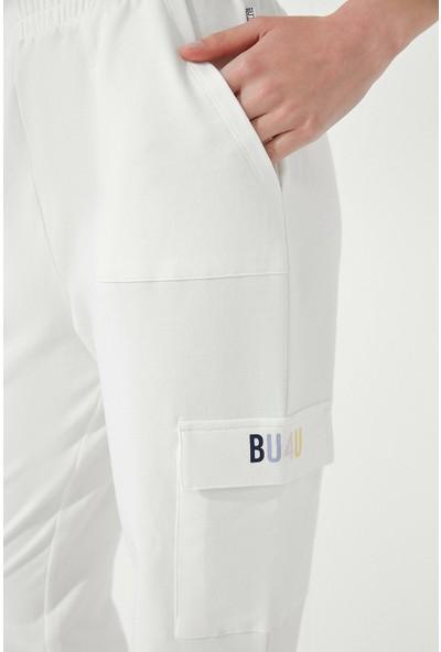 Penti Kırık Beyaz BU4U Cargo Jogger Pantolon
