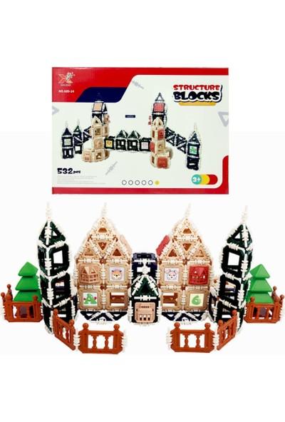 Başel Structure Blocks 3D Puzzle Yapı ve Tasarım Blokları 532 Parça
