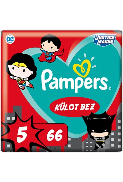 Prima Külot Bebek Bezi Süper Kahraman Serisi 5 Beden 66'lı Junior Fırsat Paketi