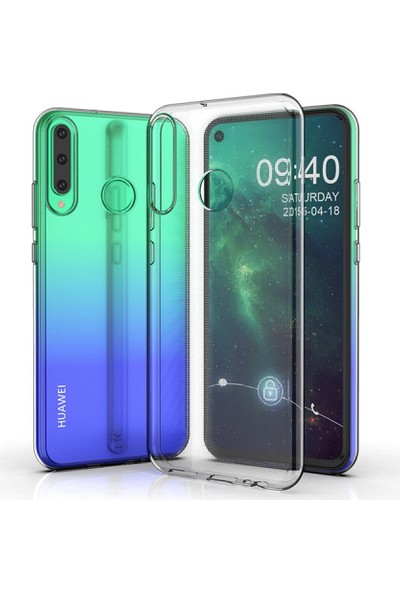 Dtech Huawei Y6P Kılıf Şeffaf Silikon Lüx - Şeffaf