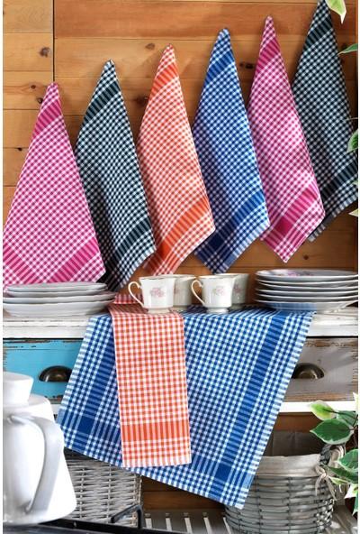 Binnur Elegance 8 Adet 4 Renk 50X70 Mutfak Kurulama Bezi, Bulaşık Kurulama Bezi