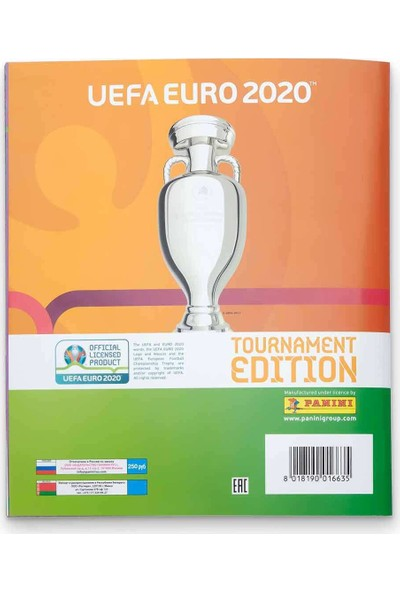 Panini Uefa Euro 2020 Tournament Edition Çıkartma Albümü