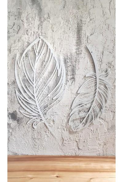 Aduşka Metal Tüy Seti-Ikili (Beyaz)