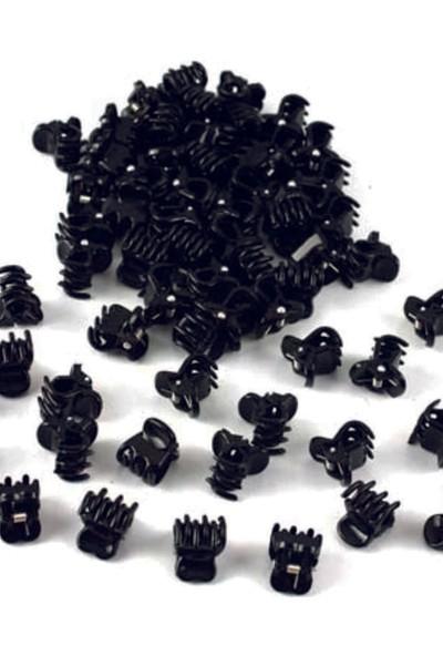 Bella Siyah Mini Mandal Toka 10 Adet