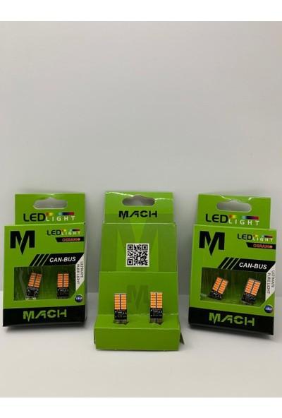 Mach T10 LED 24 Ledli Metal Ultra Turuncu Park,plaka,tavan Ampülü 2 Adet