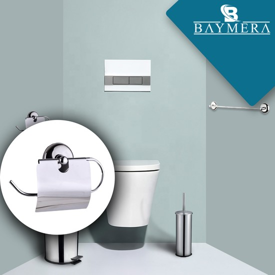 Baymera Kapaklı Tuvalet Kağıtlığı