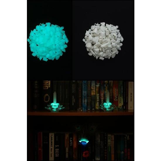 Arge-Kimya Glow In The Dark Stones BLUE_02 (4-12MM/50GR) / Karanlıkta Parlayan Taşlar MAVI_02