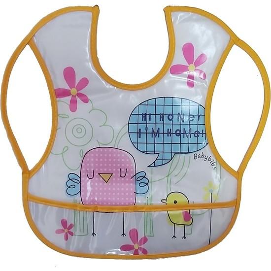 Baby Bibs Su Geçirmez Leke Tutmaz Muşamba Mama Önlüğü 30 x 27 cm