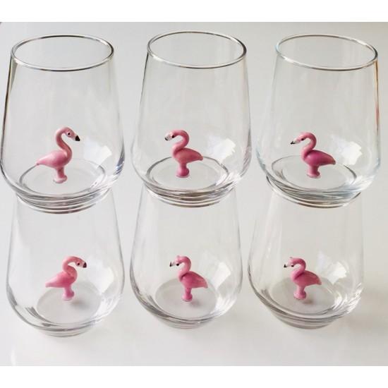Adamodart Flamingo Figürlü 6'lı Bardak Seti