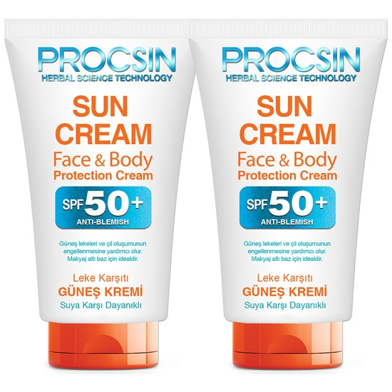 Procsin Güneş Kremi 50 ml Ikili Paket