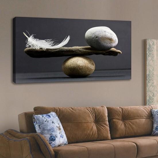 Ion Kanvas Tablo Hayatın Dengesi Duvar Dekorasyon Moda Tablo 60X120 cm