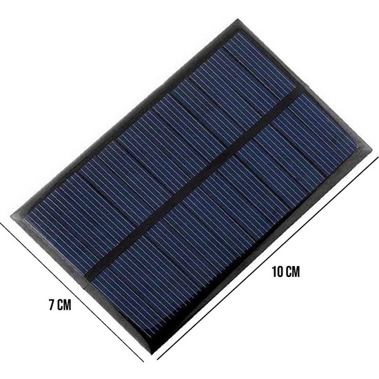 Polaxtor Deney Güneş Enerji Paneli Solar 6V 1.5W (100X70MM)