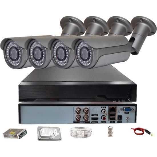 QROMAX PRO 5042 4' lü 5 Megapiksel SONY LENS 1080P Metal Kasa Güvenlik Kamerası Sistemi
