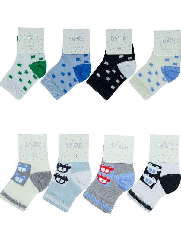 Olay Socks 12-18 Ay 8'li Erkek Bebek Çorabı