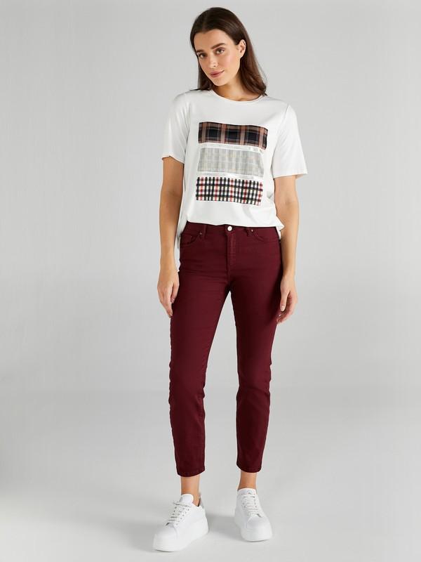 Faik Sönmez Slim Fit Coton Parça Boya Pantolon 61048