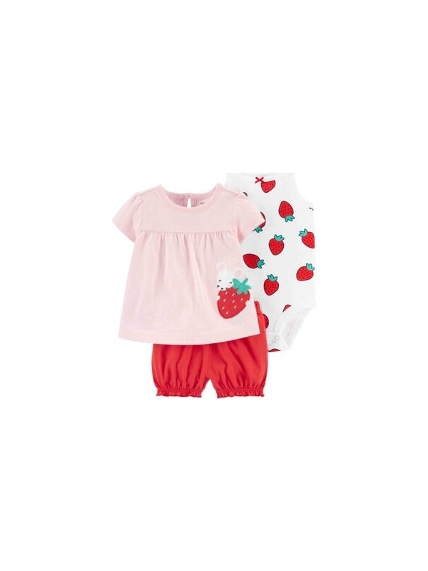 Carter's Kız Bebek 3'lü Set - Dcs 1H354610
