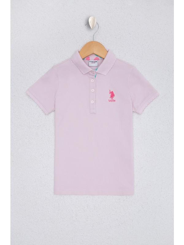 U.S. Polo Assn. Kız Çocuk Pembe T-Shirt Basic 50220421-VR034