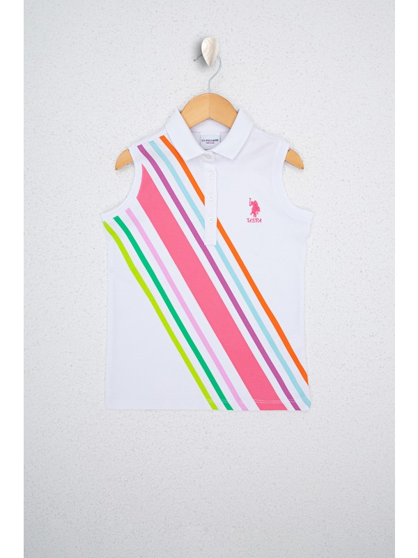 U.S. Polo Assn. Kız Çocuk Beyaz T-Shirt 50234769-VR013