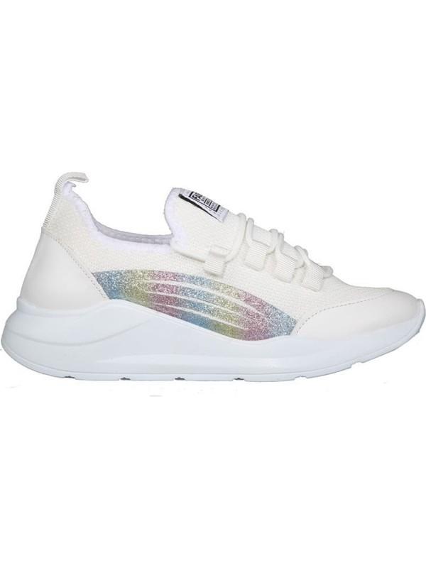 Miss Park Moda PM10 K312 Beyaz Kadın Sneakers