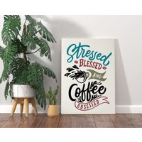 Bitmeyen Kartuş Bk Gift Coffee Tasarımlı Kanvas Tablo 70X100CM-3