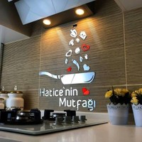 Hataylazerkesim Kişiye Özel Mutfak Pleksi Süsü - Anneler Günü Hediyesi