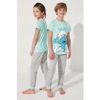 Penti Çok Renkli Unisex Lic Smurf 2li Fam Pijama Takımı