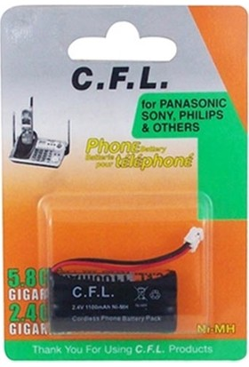 CFL Telsiz Telefon Pili Panasonıc 2.4V Ni-Mh 1100MAH Cfl