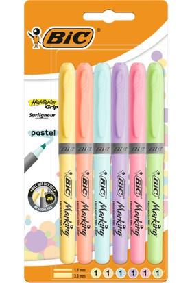 Bic Fosforlu Kalem Brite Liner Grip Pastel 6'lı 992561