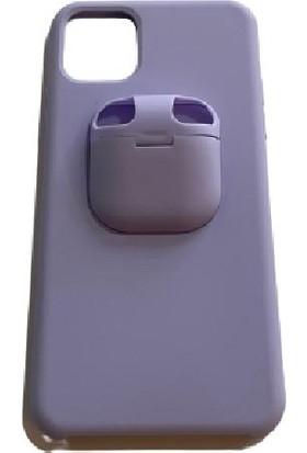 3K Apple iPhone 11 Silikon Airpods Kulaklık Yuvalı Kılıf