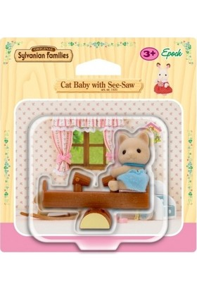 Sylvanian Families Cat Baby Seesaw 4560