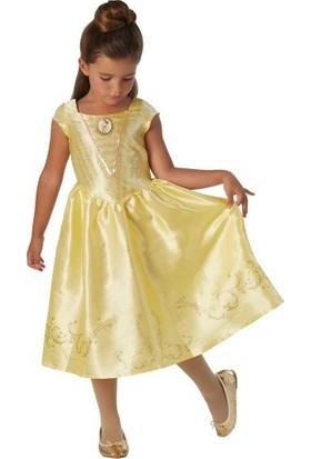 Lisanslı Disney Princess Belle Sarı Kostüm 7 - 8 Yaş
