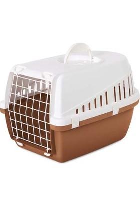Savic Trotter 1 Beyaz Nordıc Kahverengi Kedi ve Köpek Taşıma Kafesi