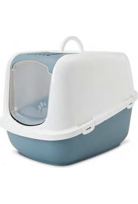 Savic Nestor Jumbo Kapalı Kedi Tuvaleti Beyaz-Nordıc Yeşil