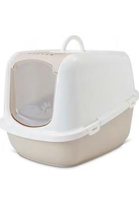 Savic Nestor Jumbo Kapalı Kedi Tuvaleti Beyaz-Krem