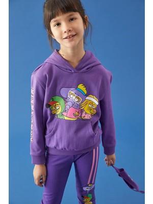 Defacto Kız Çocuk Kral Şakir Lisanslı Kapüşonlu Sweatshirt T1977A621SP