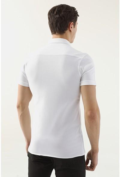 D'S Damat Tokyo Kalıp Beyaz Gömlek