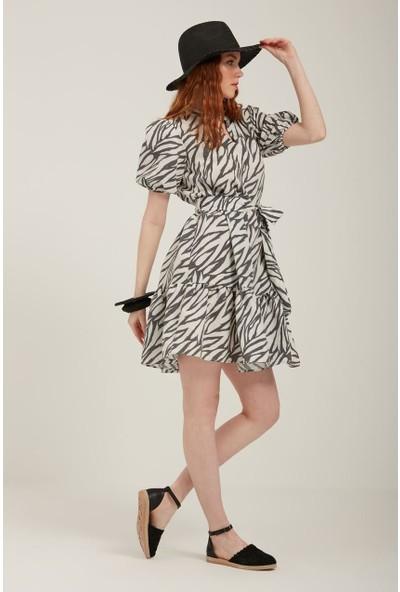 Batik Keten Elbise