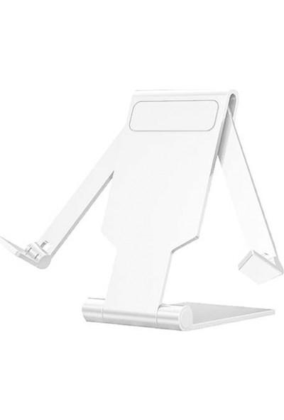 Microsonic Katlanabilir Masaüstü Telefon Tutucu Stand Beyaz