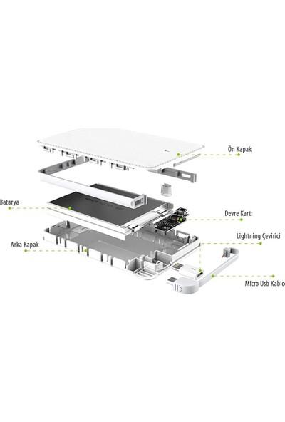 Doyuk Deri Görünümlü 5000 Mah Powerbank Taşınabilir Şarj Cihazı Vesta