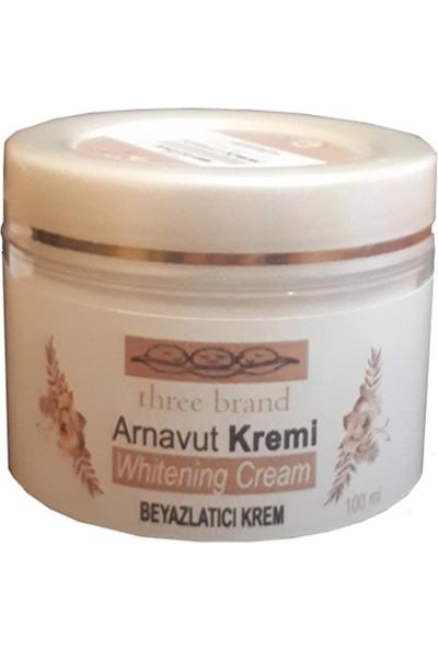 Three Brand 100 ml Arnavut Aklık Kremi 3 Adet + Foot Care Cream Cooling Peppermint 50 ml Ayak Bakım Kremi Nane Ferahlığı ve Kokusu 2 Adet