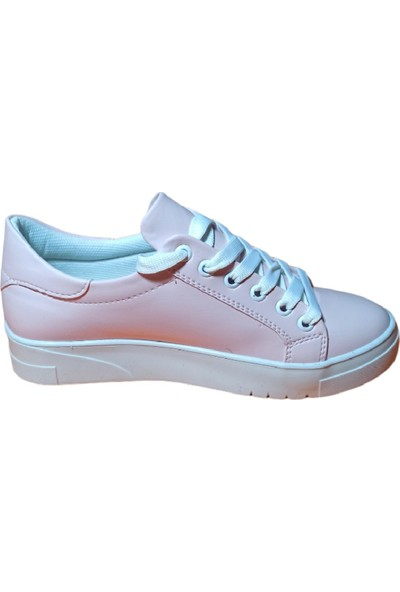 Endless Pembe Renkli Beyaz Tabanlı Spor Endless Ayakkabı