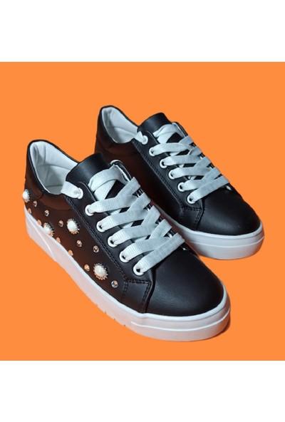 Endless Siyah Boncuk Detaylı Endless Ayakkabı