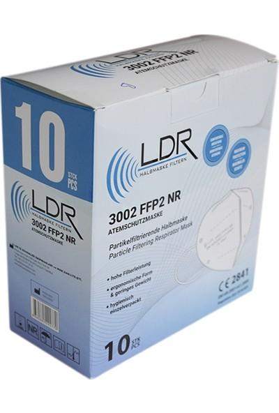 LDR Ldr Ffp2 Nr 3002 Toz Maskesi 10 Adet Siyah