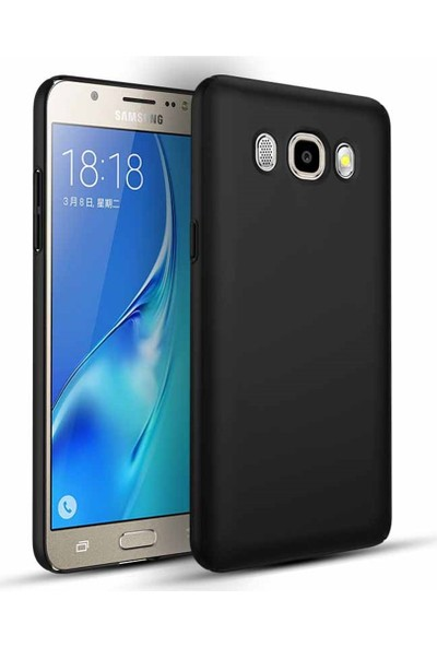 Vinn Mood Samsung J7 2016 Uyumlu Siyah Ince Soft Premier A+ Slikon Mat Kılıf Oil Arka Kapak