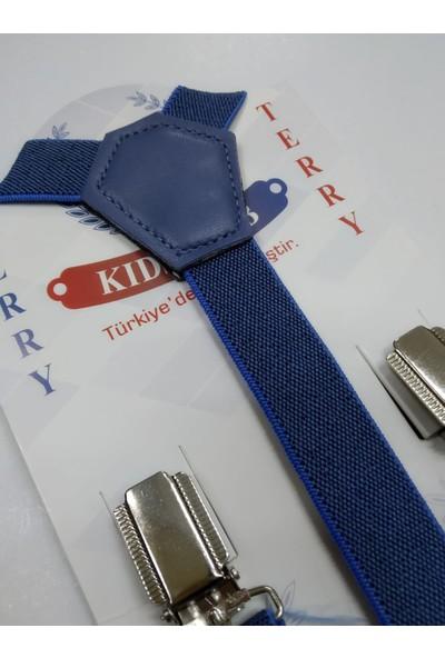 Terry Metal Uçlu Ayarlanabilir Çocuk Pantolon Askısı