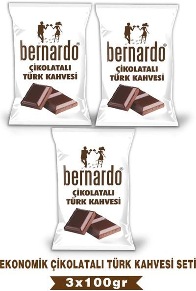 Bernardo 3lü Çikolatalı Türk Kahvesi Ekonomik Set 100GRX3