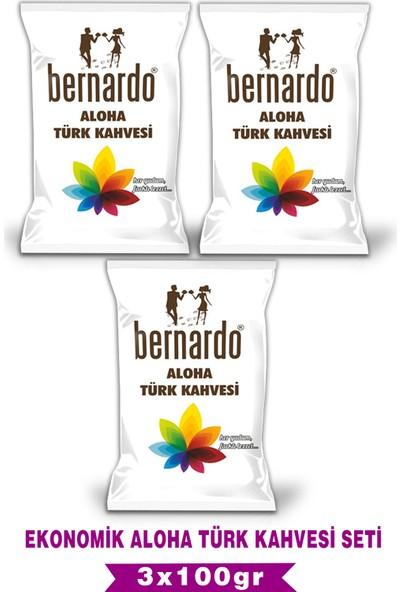 Bernardo 3lü Aloha Türk Kahvesi Ekonomik Set 100GRX3