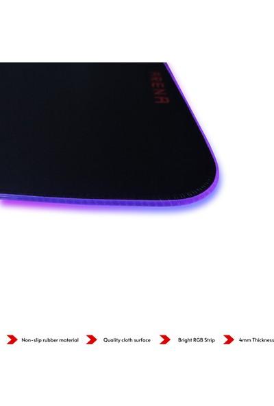 Voll Rgb 800 x 300 mm Oyuncu Gamer Mousepad Siyah