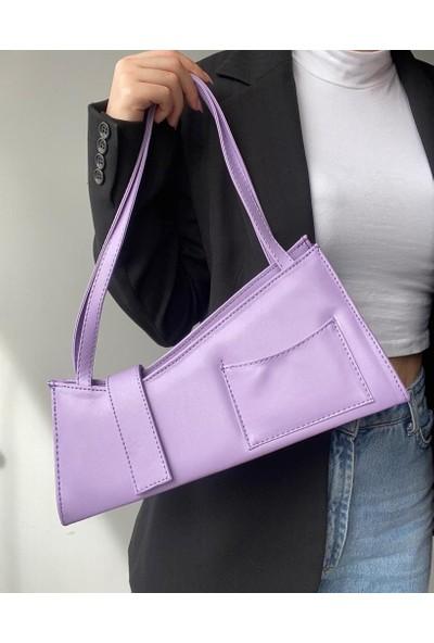 Dora & Dora Kadın Cepli Baget Çanta Cepli Baget
